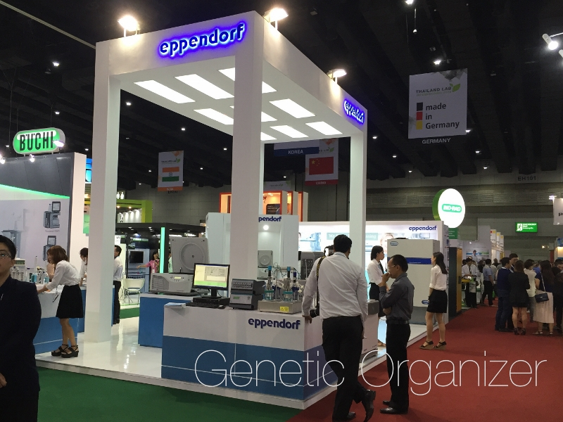 eppendorf booth by genetic organizer
